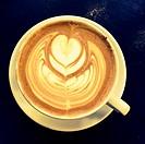 Latte with design in foam.