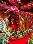 Christmas ribbon and bow.
