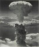 Nagasaki, Japan under atomic bomb attack August 9, 1945. Atomic bomb mushroom cloud over Nagasaki. Credit: Library of Congress/United States. Army Air...