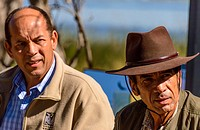 Tshekedi Khama II (left and President Lieutenant General Seretse Khama Ian Khama (right). Botswana.