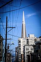 Transamerica Pyramid in San Francisco downtown