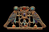USA, New York, Metropolitan Museum, from the tomb of SitHathorIunet, daughter of Senusret 2, Egypt, el-Lahun : A pectoral with the name of Senusret 2....