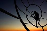 Spain. Galicia. Pontevedra. Rias Baixas. Cangas. Cabo Home. Sculpture of the Shell.