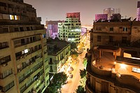 Downtown Cairo overview at night. Egypt.