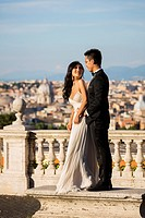 Wedding Couple at Gianicolo. Rome. Italy.