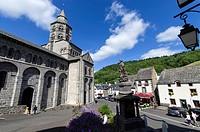 Orcival, Medieval village, Puy de Dome, Auvergne, France.