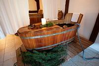 Hotel Bad Schoergau, beauty farm, mountain pine bath, Sarentino, Sarntal valley, Trentino-Alto Adige (Südtirol), Italy