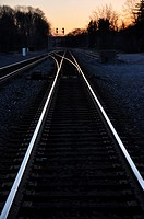 Converging Railroad Lines-Enon Valley, PA, USA