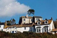 Houses in Port Isaac, Cornwall, UK.