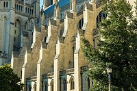 Sunlight shines on the flying buttresses of the Washington Cathedral in Wash. D. C.