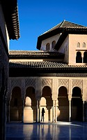 Spain, Andalusia (Andalucia), Granada, the Alhambra Palace, listed as World Heritage by UNESCO, built between 13th and 14th century by the Nasrid Dyna...