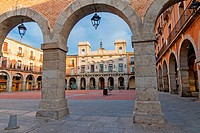 Mercado Chico Square and City Hall, Avila, Castile and Leon, Spain. UNESCO World Heritage Site.