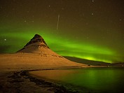 Iceland Kirkjufell Northern Lights.