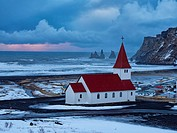Iceland Church in Vik.