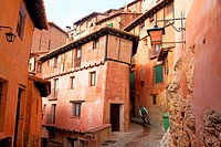 Albarracin medieval terracotte village in Teruel, Aragon, Spain. One of the Spain´s most beautiful villages.