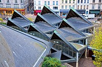 Roofs of Ancient market place, Old town, Rouen, 76, Normandy, France