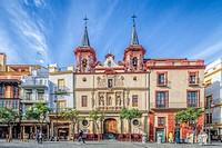 Church of the former Hospital of San Juan de Dios, El Salvador square, Seville, Spain.