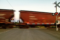 BNSF train at East Babb siding, Cheney, Washington, USA.