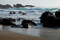 Garrapata Beach State Park, Big Sur, California, USA, surf and rocks.