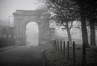 19th century arched gateway, near Oak Park, Carlow, Ireland