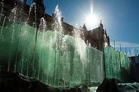 Fountain at Market Square in Wroclaw, Poland.