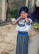 Mayan girl in typical clothing