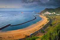 Las Teresitas, Beach, San Andres, Tenerife, Canary Islands, Spain.