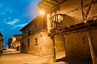 Typical Architecture, Calatañazor, Medieval Town, Soria, Castilla y León, Spain, Europe.