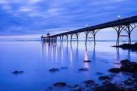 The Victorian pier at Clevedon in the Bristol Channel, North Somerset, England.