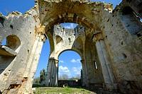 Benedictine San Bruzio Monastery ruins, Magliano in Toscana, Tuscany, Italy