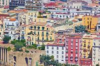 Naples cityscape from Castel Sant' Elmo, Vomero, Naples, Campania, Italy, Europe.