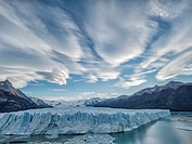 Glaciar Perito Moreno Lenticular Clouds.
