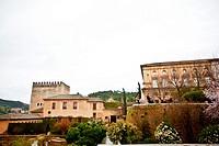 Alhambra in Granada, Alcazaba (Granada, Spain, Andalusia, Europe).