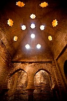 Alhambra in Granada, Mosque bath (Granada, Spain, Andalusia, Europe).