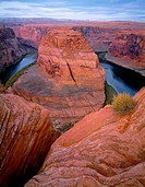 USA, Arizona, Glen Canyon National Recreation Area, Horseshoe Bend on the Colorado River.