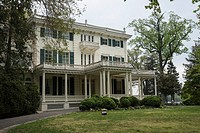 Main entrance to Glen Foerd on the Delaware, historic mansion and estate, Philadelphia, Pennsylvania, USA.