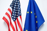 European and US Flag.
