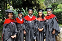 Ethiopia, Addis Ababa, students who have obtained their diploma