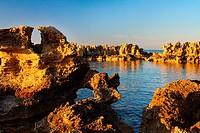 Natural Swimming Pools in Punta Pedrera, Formentera (Balearic islands).