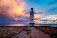 The lighthouse of Es Cap de Barbaria. Formentera (Balearic Islands).