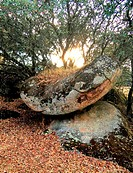 Prehistoric altar, Cancho Gordo, near Escurial, Extremadura, Spain