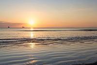 Sunset over Ao Yai beach, Ko Phayam, Ranong, Thailand.