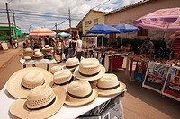 Scene from the market place at town center, Vinales, Pinar del Rio Province, Cuba, West Indies, Central America.