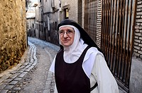 Nun in the old quarter, Toledo.