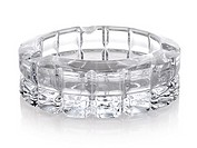 Beautiful glass ashtray isolated on a white background.