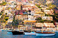Positano, Campania, Salerno, beautiful Town on the Amalfi Coast.