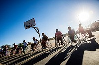 Players of Wheel-Ability Sports Club basketball team have their training in Katutura, Windhoek, Namibia. Every Sunday they invite people from the Wind...