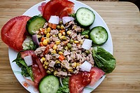 Greek Cuisine. Fresh Tuna Salad.