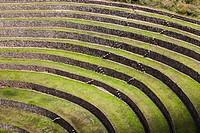 Incan agricultural terraces at Moray, Peru.