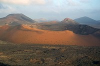 Timanfaya volcano crater in the island of Lanzarote, Canary Islands, Spain